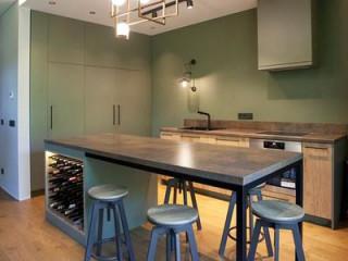 現代北歐佐莫蘭迪色 知性優雅美感廚房