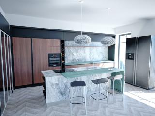異材混搭美學 現代輕奢廚房設計