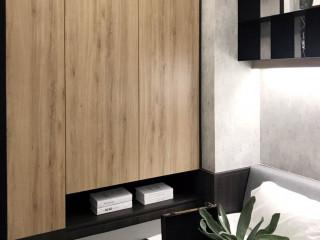 暖深木理+灰階色調 變身都會型男公寓