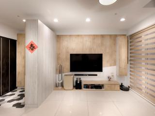清淡暖色木系零壓感 舒心小家庭公寓宅